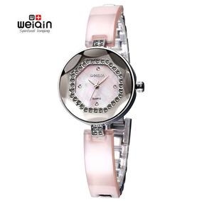 paquete de moda y atractivo modelado duradero descuento en venta Weiqin Elegante Reloj Mujeres Moda Diamante De Imitación Ro