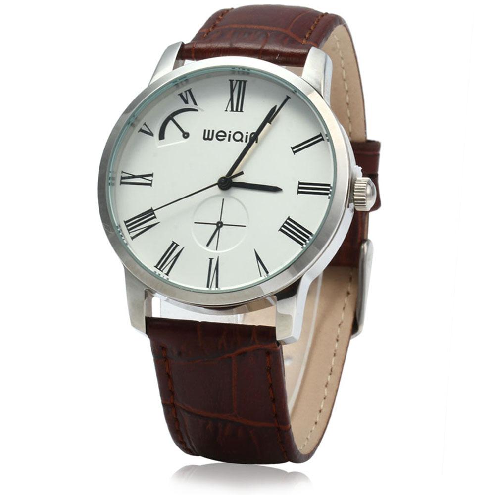 4d327de6c77f Weiqin Quartz Hombres Reloj Correa Cuero Marrón -   593.51 en ...