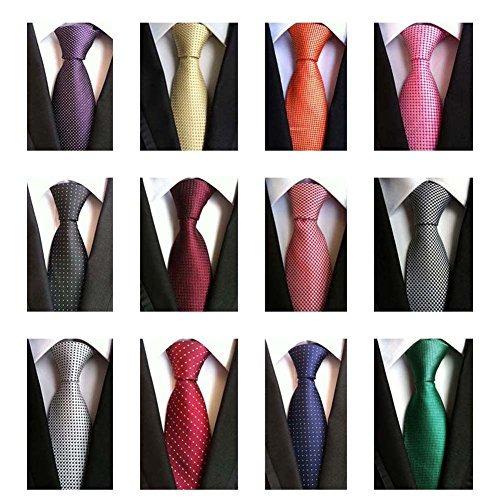 weishang lot 12 pcs classic tie's necktie woven jacquard nec