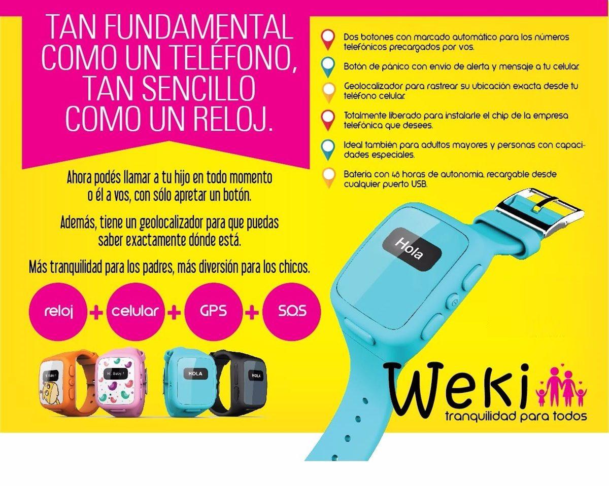 Weki Celular+reloj+gps+botón Sos Para Adultos Mayores - $ 1.699,00 ...