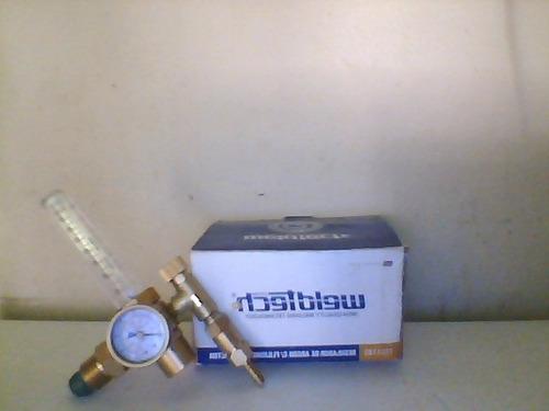 weldtech regulador de argon con flujometro y manometro.