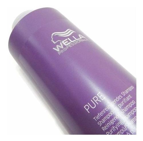 wella profesional pure 1000ml shampoo purificante pelo graso