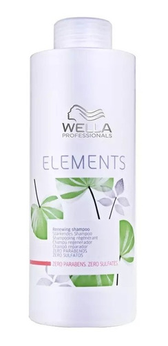 wella shampoo elements renewing sem sulfato 1000ml