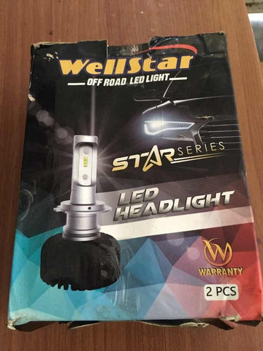 wellstar h4 alta/baja, luz blanca led- headlight
