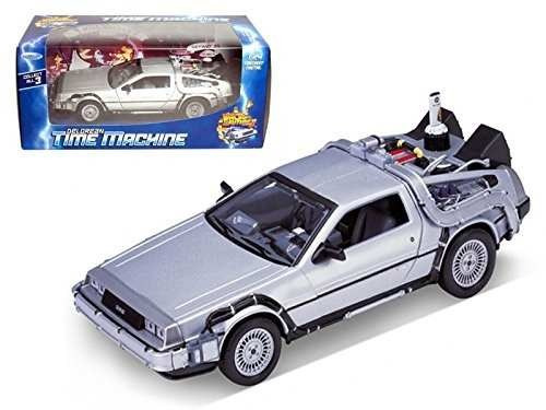 welly 1/24 scale diecast metal delorean time machine volver