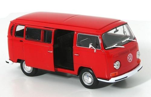 welly - 1972 volkswagen bus t2 - mexico combi esc.1:24
