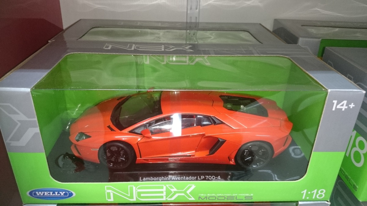 welly - lamborghini aventador - escala 1:18 de metal - $ 3.450,00 en