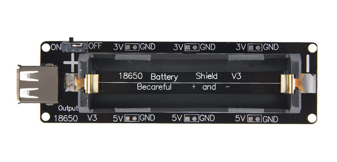 Wemos 18650 Batería Shield V3 Esp32 Para Raspberry Pi Y