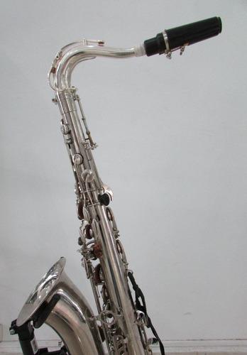 weril master sax tenor bb niquelado semi-novo