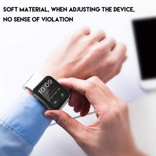 werone compatible con apple caja de reloj de la pantalla 4 d