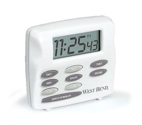 west bend 40053 triple temporizador con el reloj, blanca