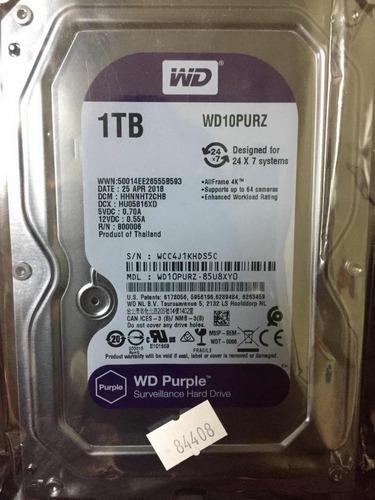 western digital - disco duro 1tb wd10purz purpura dvr o cctv