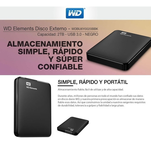 western digital disco externo elements 2tb mallweb 2