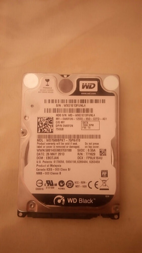western digital scorpio black 750gb internal 7200rpm 2.5  (w