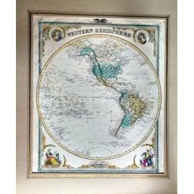 Western Hemisphere - Rare Map 1875 - Post 424