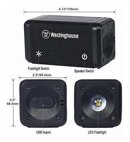 westinghouse altavoz bluetooth solar con linterna led para e