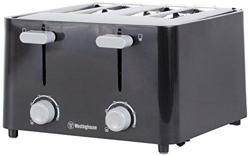 westinghouse wt4201b 4 slice toaster, negro