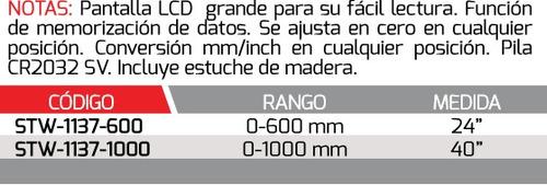 weston calibrador digital 40/0-1000mm  mod:stw-1137-1000