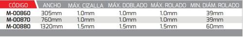 weston maquina 3 en 1 corta-dobla-rola 305mm mod:m-00860