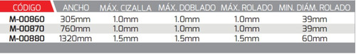 weston maquina 3 en 1 corta-dobla-rola 760mm mod:m-00870
