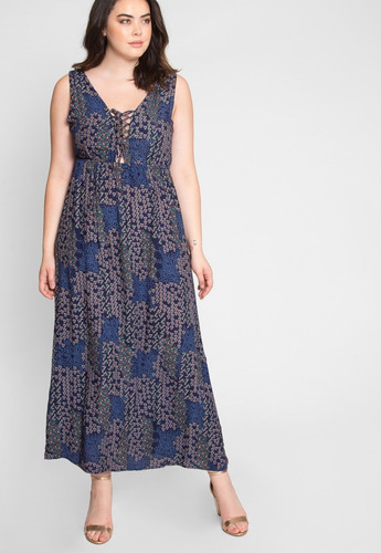 Wet Seal Vestido Maxi Dress Talla Extra 1x Moda Plus Size 79900