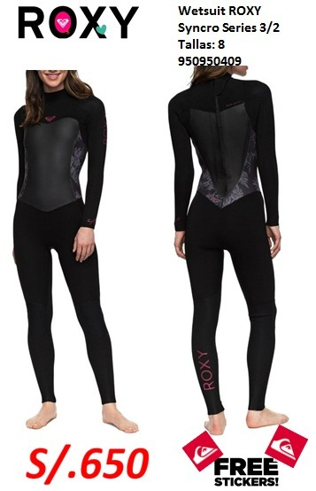 Wetsuit Mujer Roxy Syncro 3 2mm Talla 8 - S  650 734f26f95