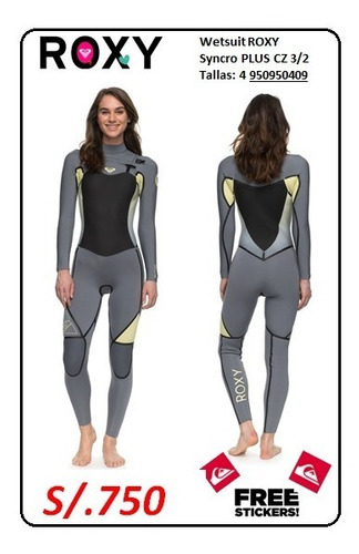 wetsuit roxy syncro lfs cz 4/3 talla 4