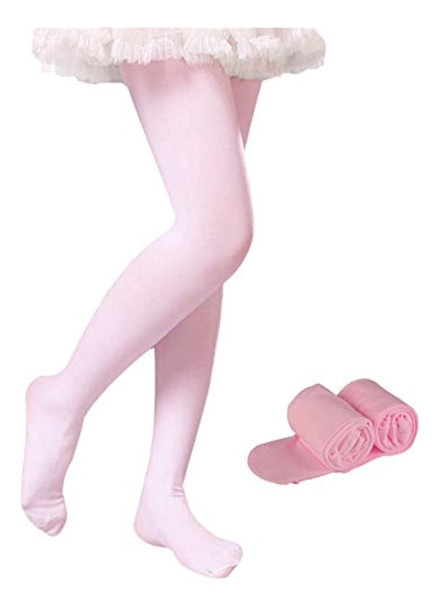 WEWINK PLUS Girls Ballet Tights 3-4Pairs Dance Ballet Ultra Soft Pro Ballet Footed Tights with Holes