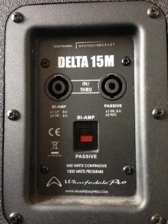 wharfedale pro, delta 15m  monitor de piso pasivo 500wats