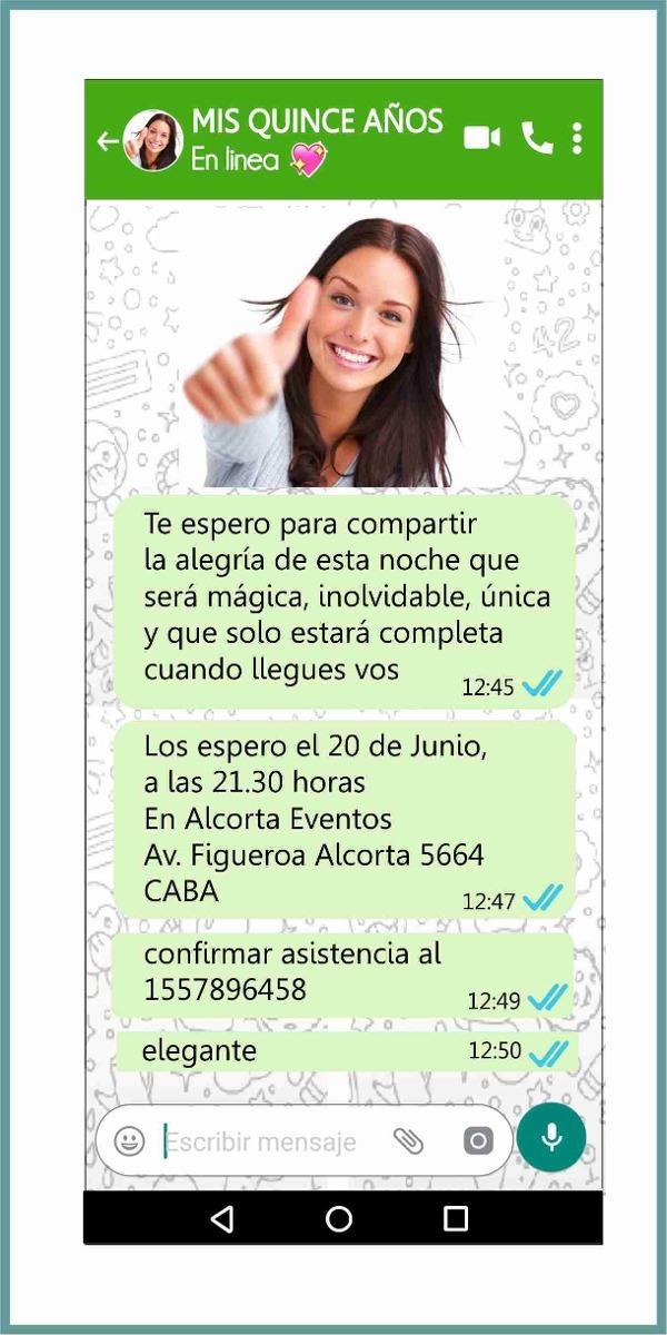 Whatsapp Tarjetas Invitaciones Casamiento Años Quince Años