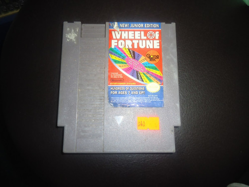 wheel of fortune junior edition para nintendo nes
