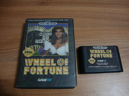 wheel of fortune - mega drive - sega genesis