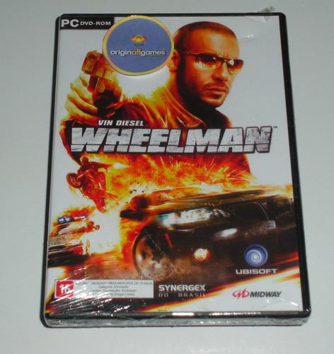 wheelman vin diesel jogo pc mídia física original lacrado