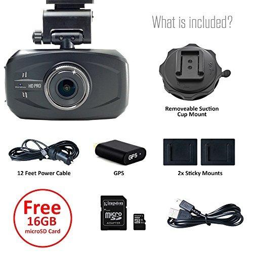wheelwitness hd pro dash cam con gps - 2k super hd - lente d