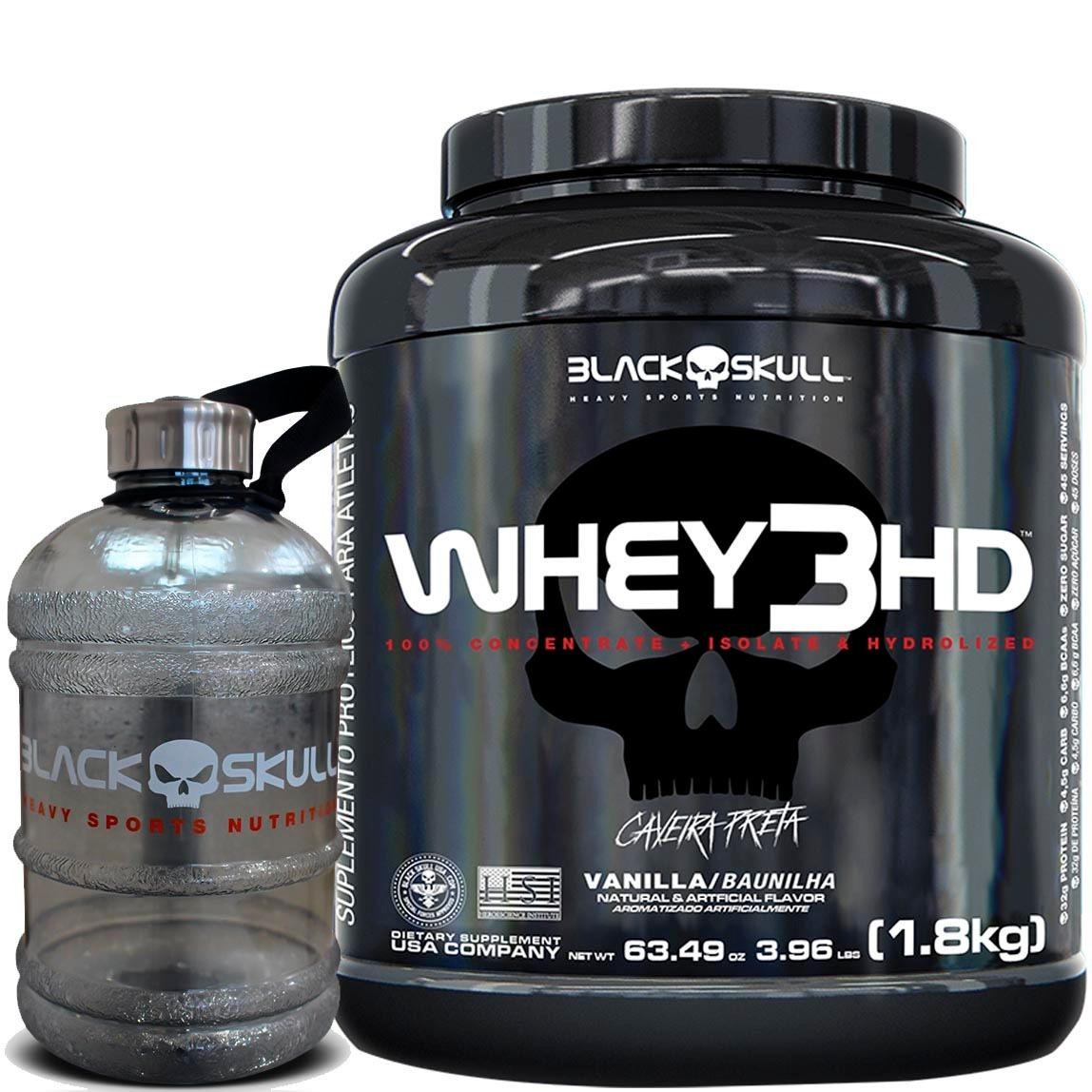 Whey 3hd + Galão 1.8l Black Skull - Isolado 8e44b0b3776b0