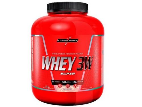 whey 3w 1,8kg (1,8kg) integral + coqueteleira brinde
