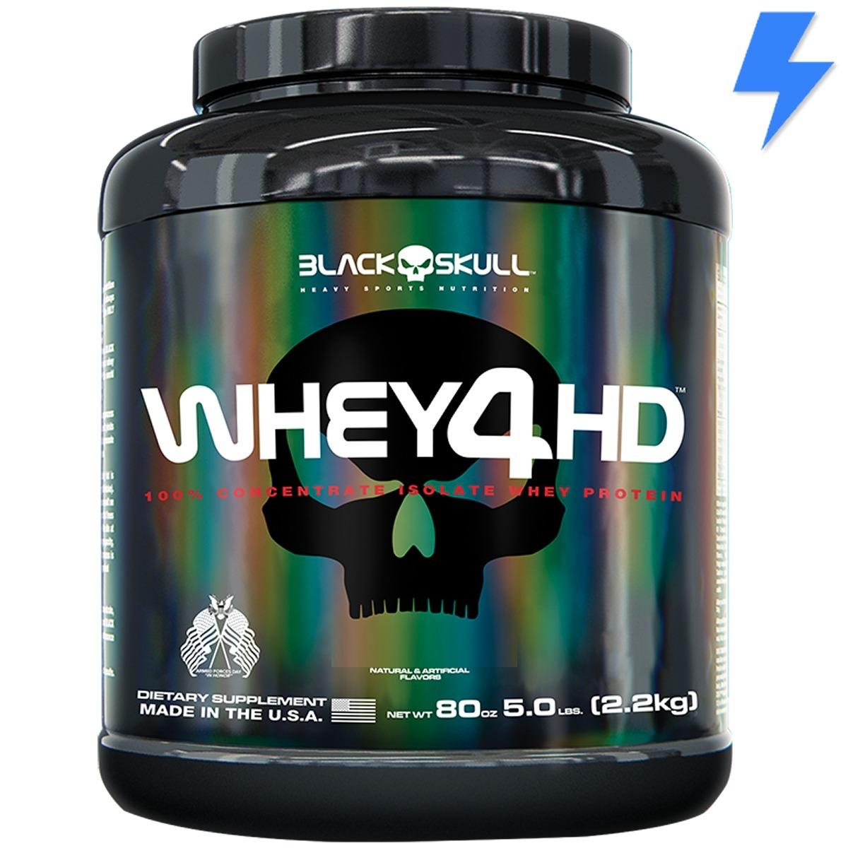 e8abb76ad Whey 4hd 2.2kg - Black Skull (isolado + Concentrado) - R  289
