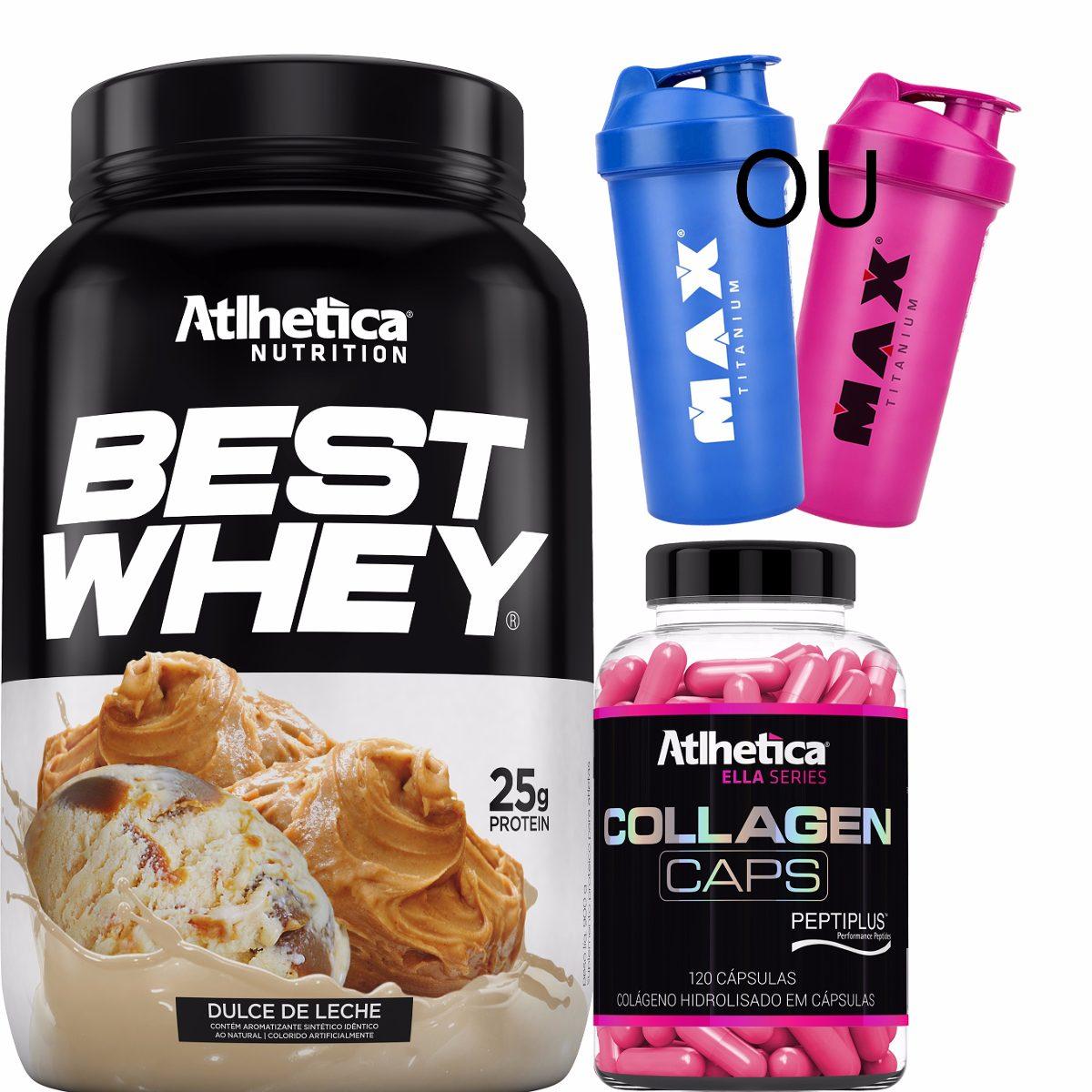 17d745150 Kit Best Whey + Colágeno + Brinde - Atlhetica Nutrition - R  1.615 ...