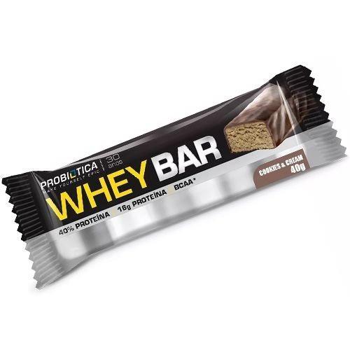 ab7b4c6f3 Whey Bar 40g - Probiótica (barra De Proteína) 5 Un - R  24
