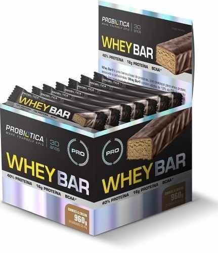 whey bar caixa 24 barras - probiótica