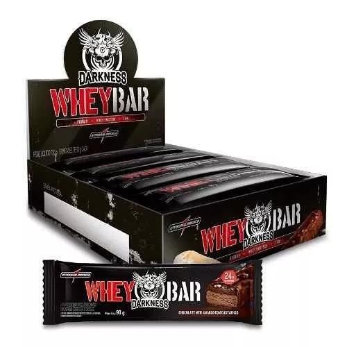 whey bar darkness integralmédica caixa c/ 8 barras - sabores