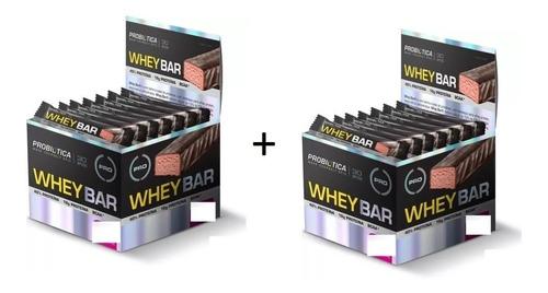 whey bar probiotica 2 caixas 48 barrinhas combo promocional