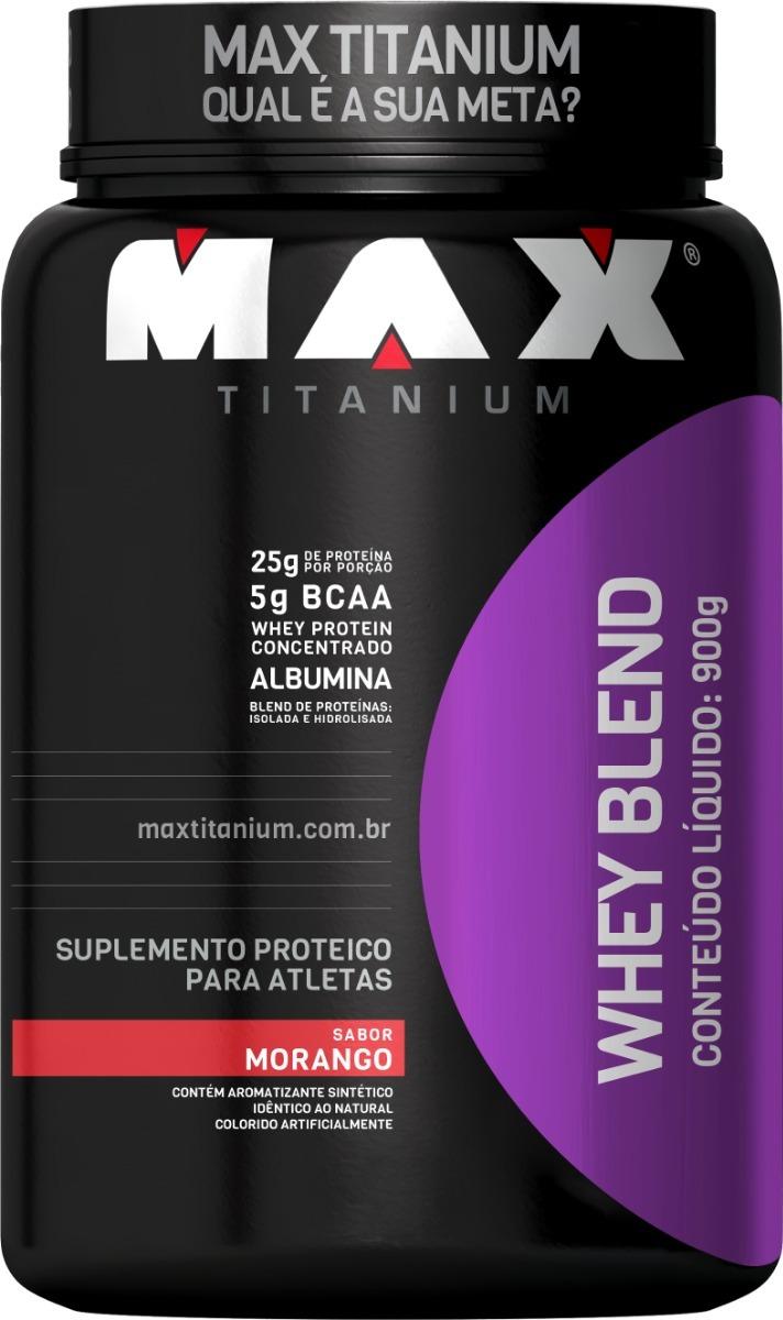 c13adcbb1 whey blend - 900g - max titanium- sabores - blend proteico. Carregando zoom.
