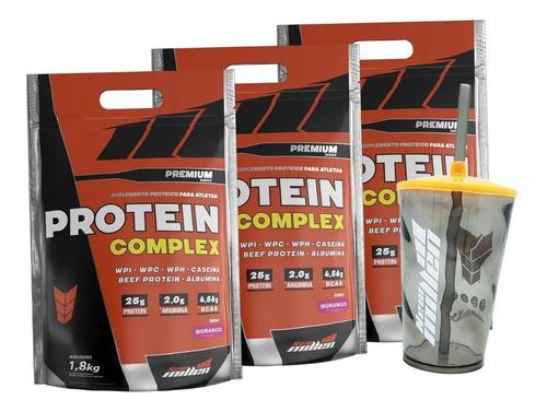 whey blend protein complex - 5400g - new millen frete gratis
