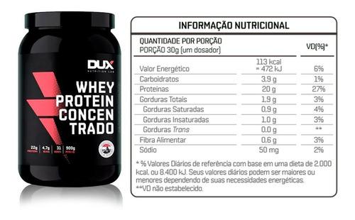 whey concentrado 900g dux nutrition diversos sabores oferta