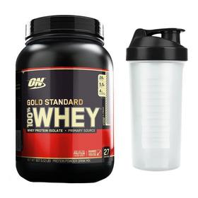 Whey Gold Standard 907g - Optimum On + Coqueteleira