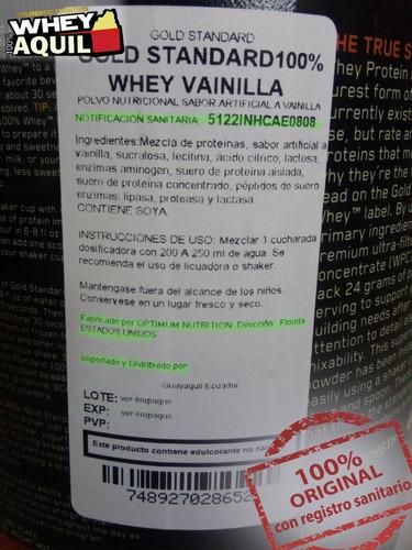whey gold standard proteina on 2lb eeuu + gratis