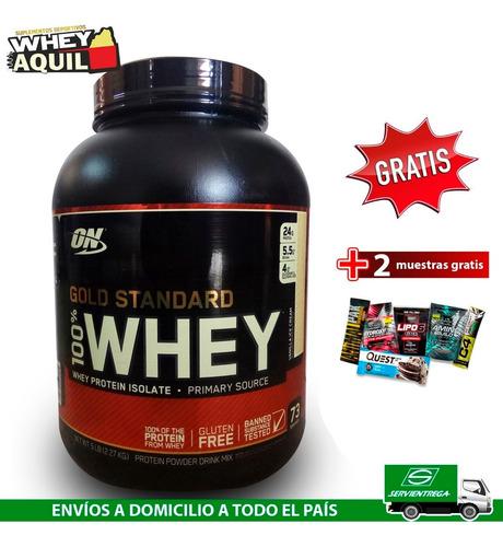 whey gold standard proteina on 5lb eeuu + gratis