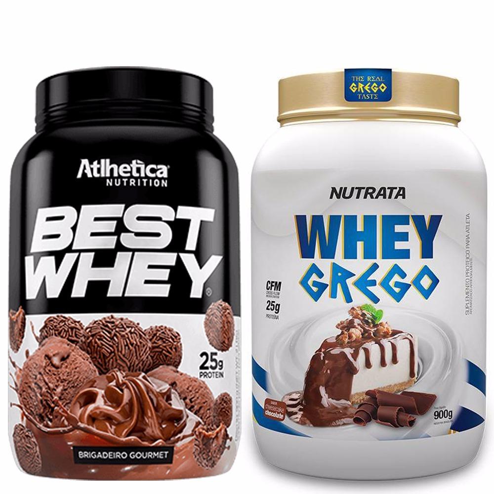da4cfb47831 Whey Grego 900g Nutrata + Best Whey 900g Atlhetica Nutrition - R ...