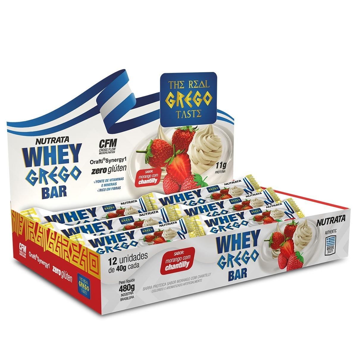 2c913edc8 Whey Grego Bar (caixa 12 Unidades) - Nutrata Barra Proteina - R  45 ...